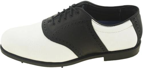 Allen Edmonds Men's Golf Shoe Black White Style 9974 42509