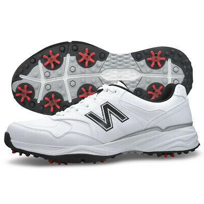 men s nbg1701 spiked golf shoes white
