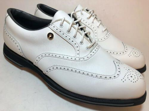 ETONIC Golf White Leather Wing Tip Wide