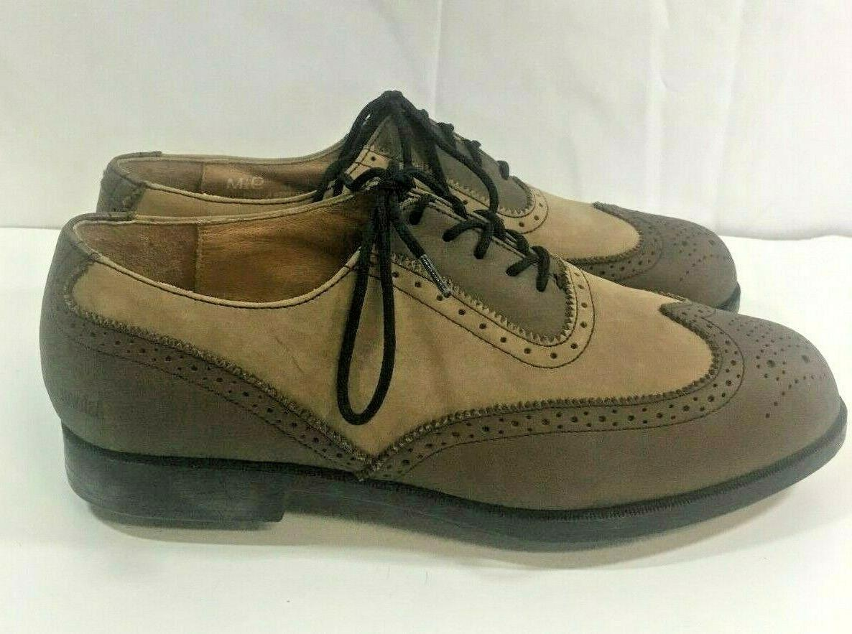 Ashworth Mens 9.5 M Brown Wing Tip Metal Golf Shoes new