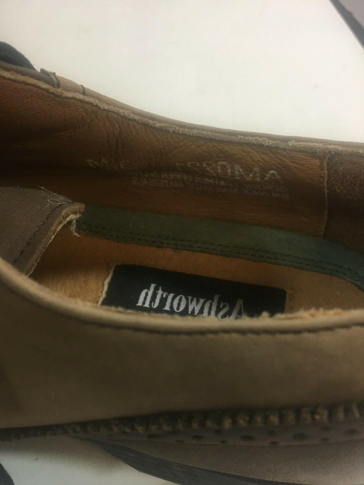 Ashworth 9.5 Brown Wing Tip Golf