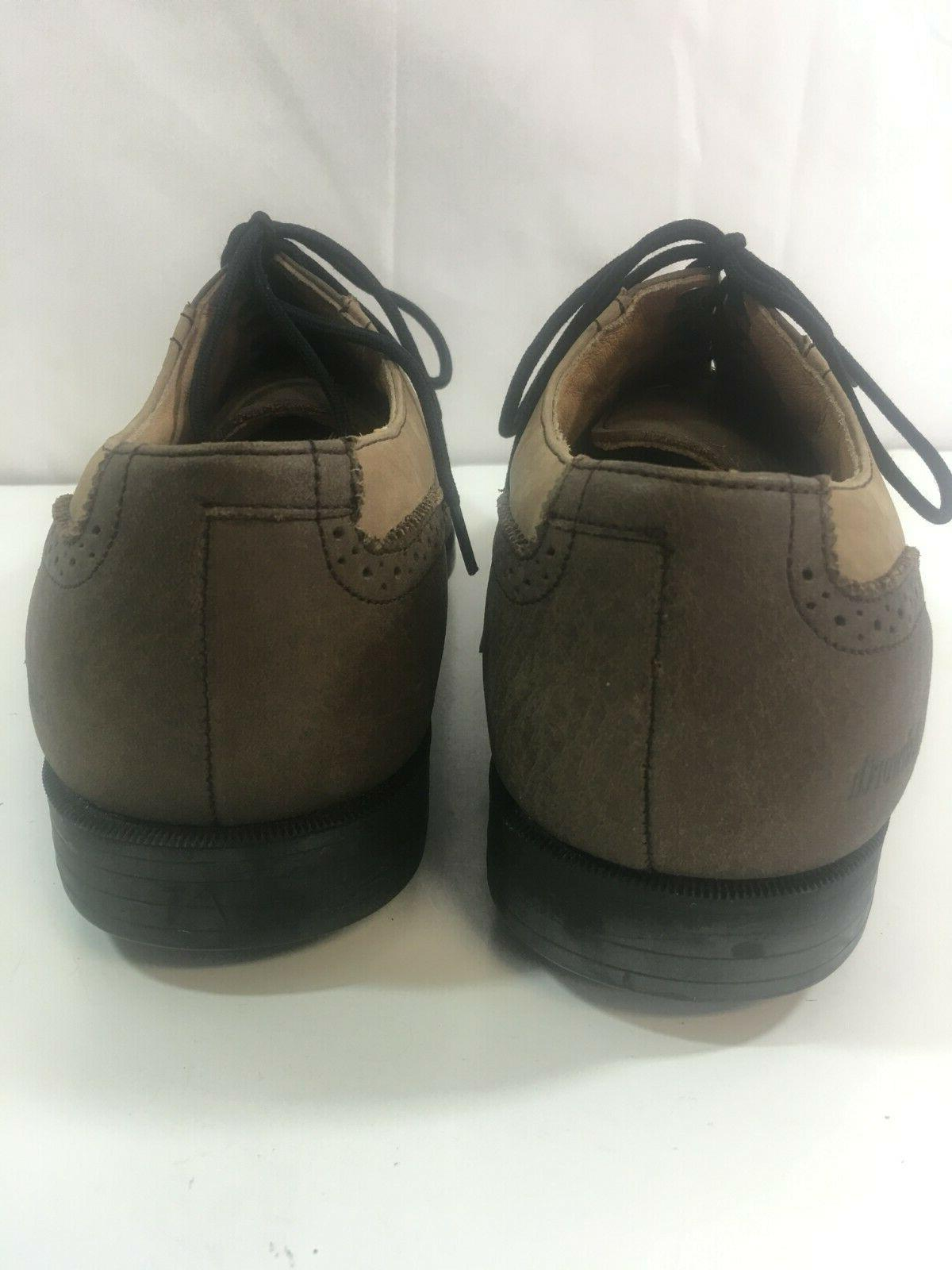 Ashworth Brown Leather Wing Golf new