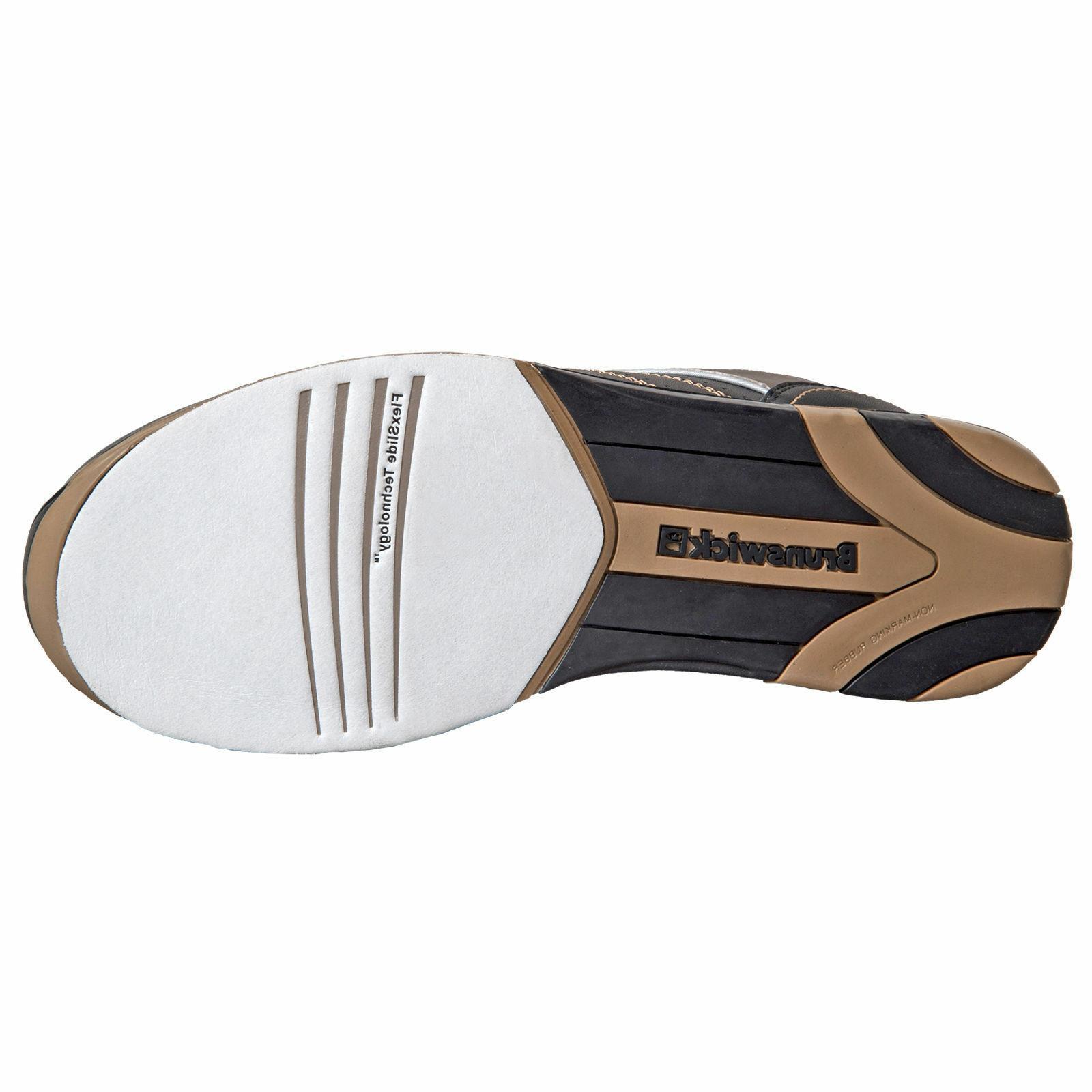 Mens Black/Gold Bowling Shoes 7, 7
