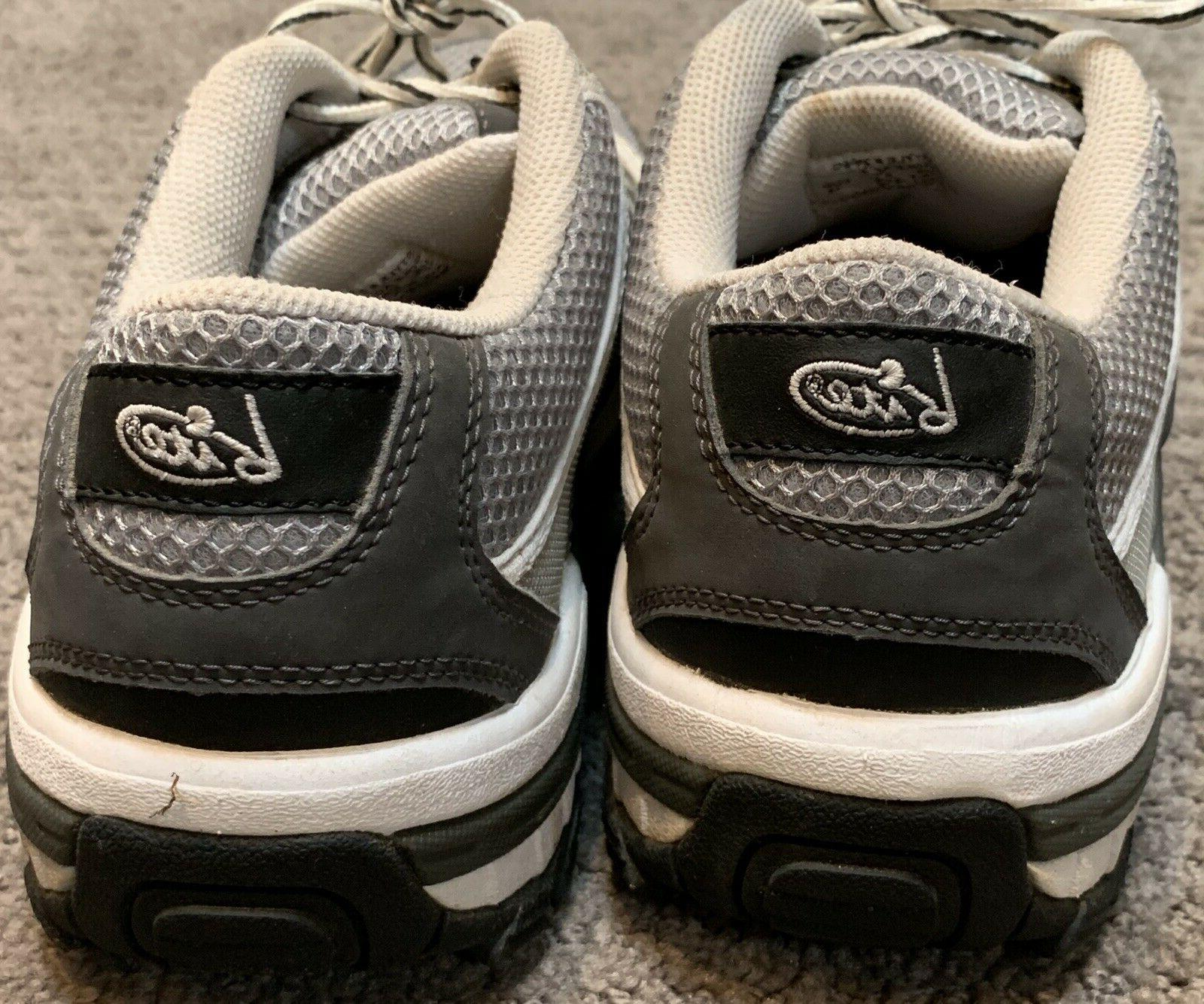 Mens Bite Shoe Size 10.5 Gray White Sneaker 697Z