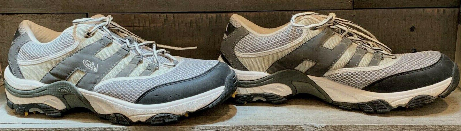 Mens Bite Shoe Size 10.5 Gray Taupe White Sneaker