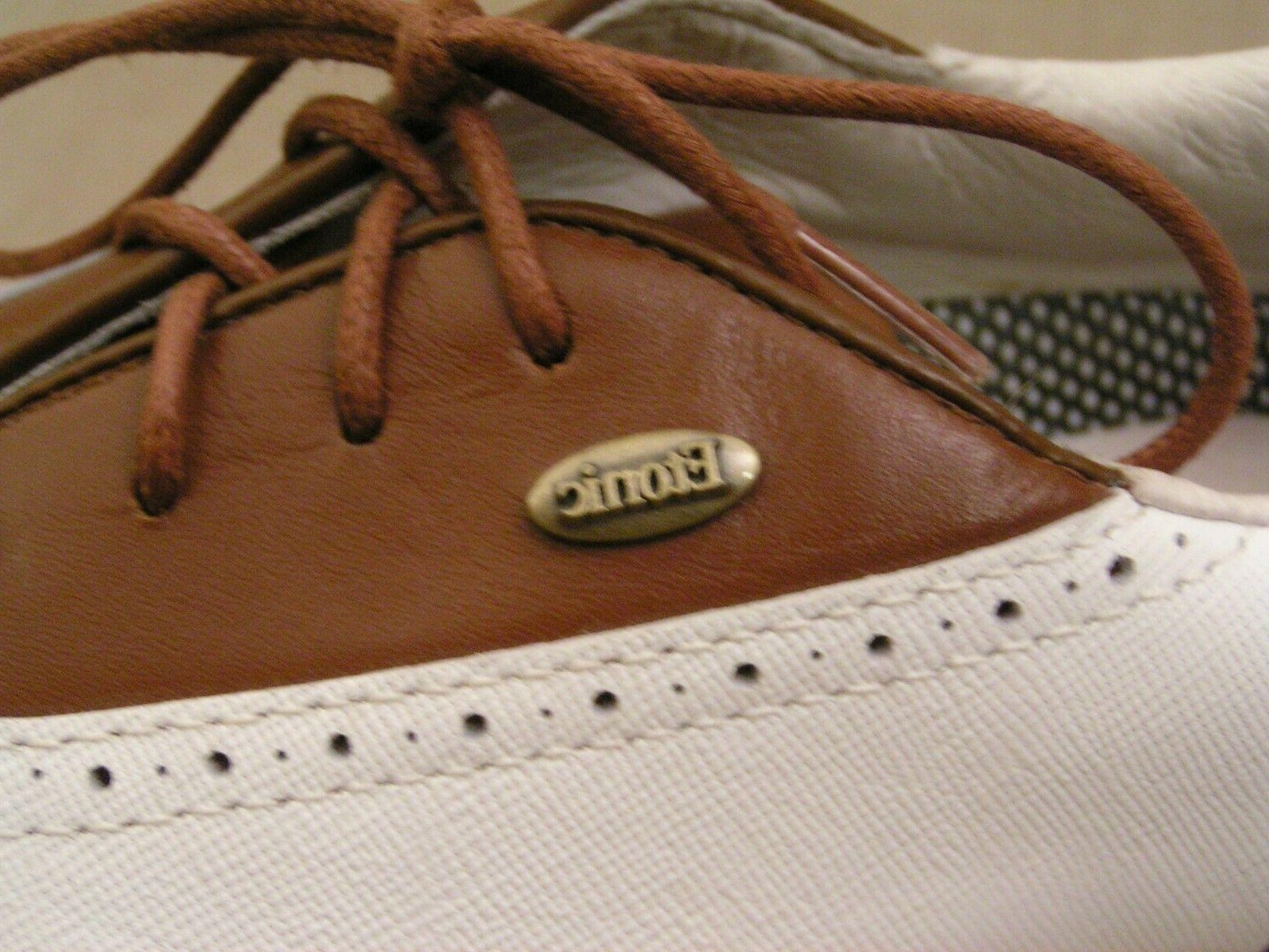 Etonic Difference 2000 White & Brown Soft Golf Shoes SZ. 8