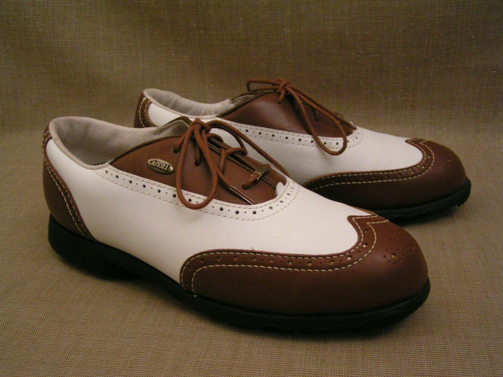 mens difference 2000 white and brown wingtip