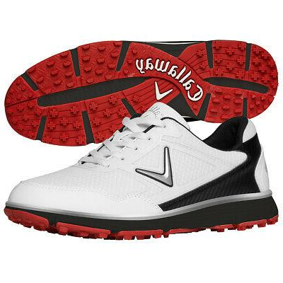 Callaway Mens Golf Shoes Mesh Synthetic Rubber Sole Spikeles