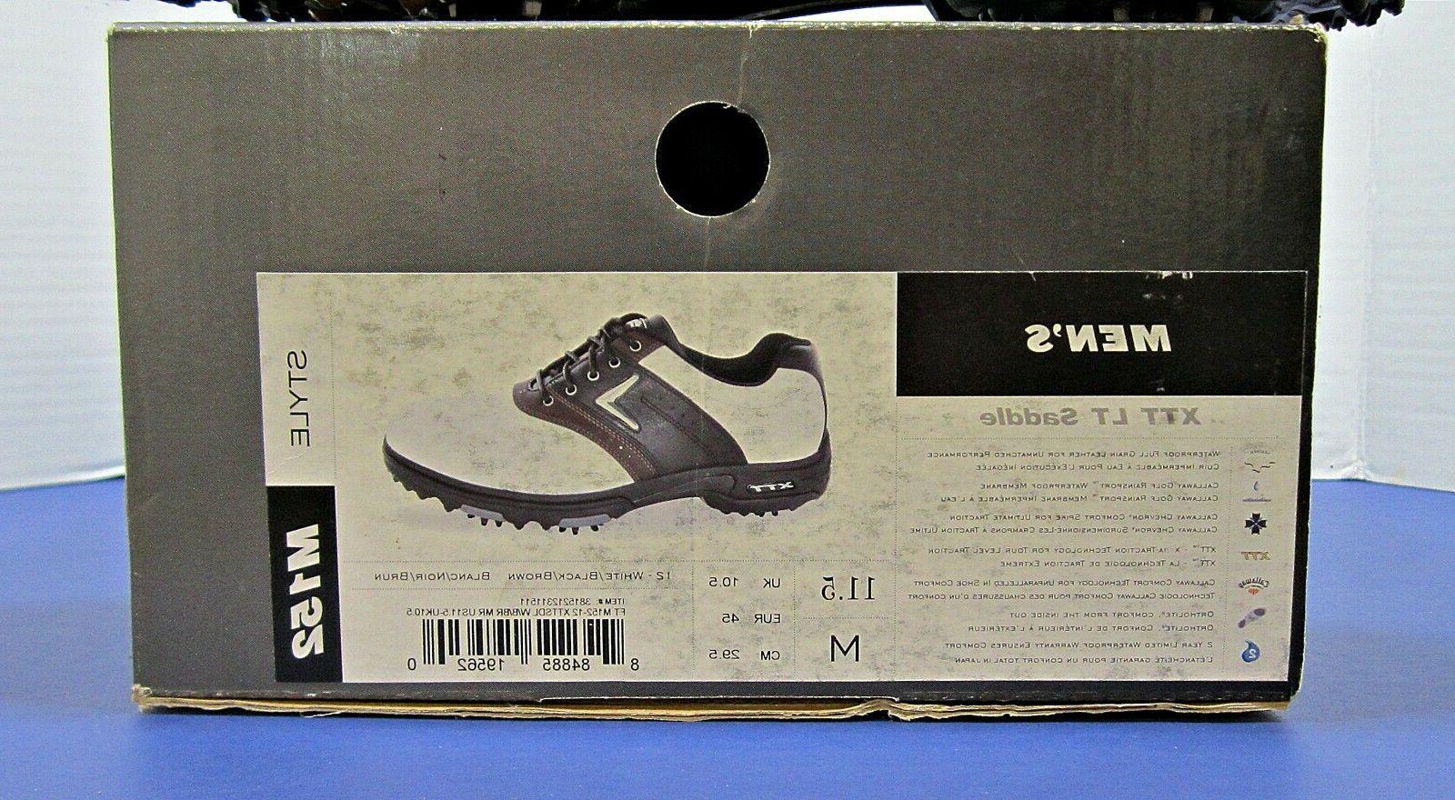 Mens LT Saddle Size 11.5 M New in Box White Black Brown