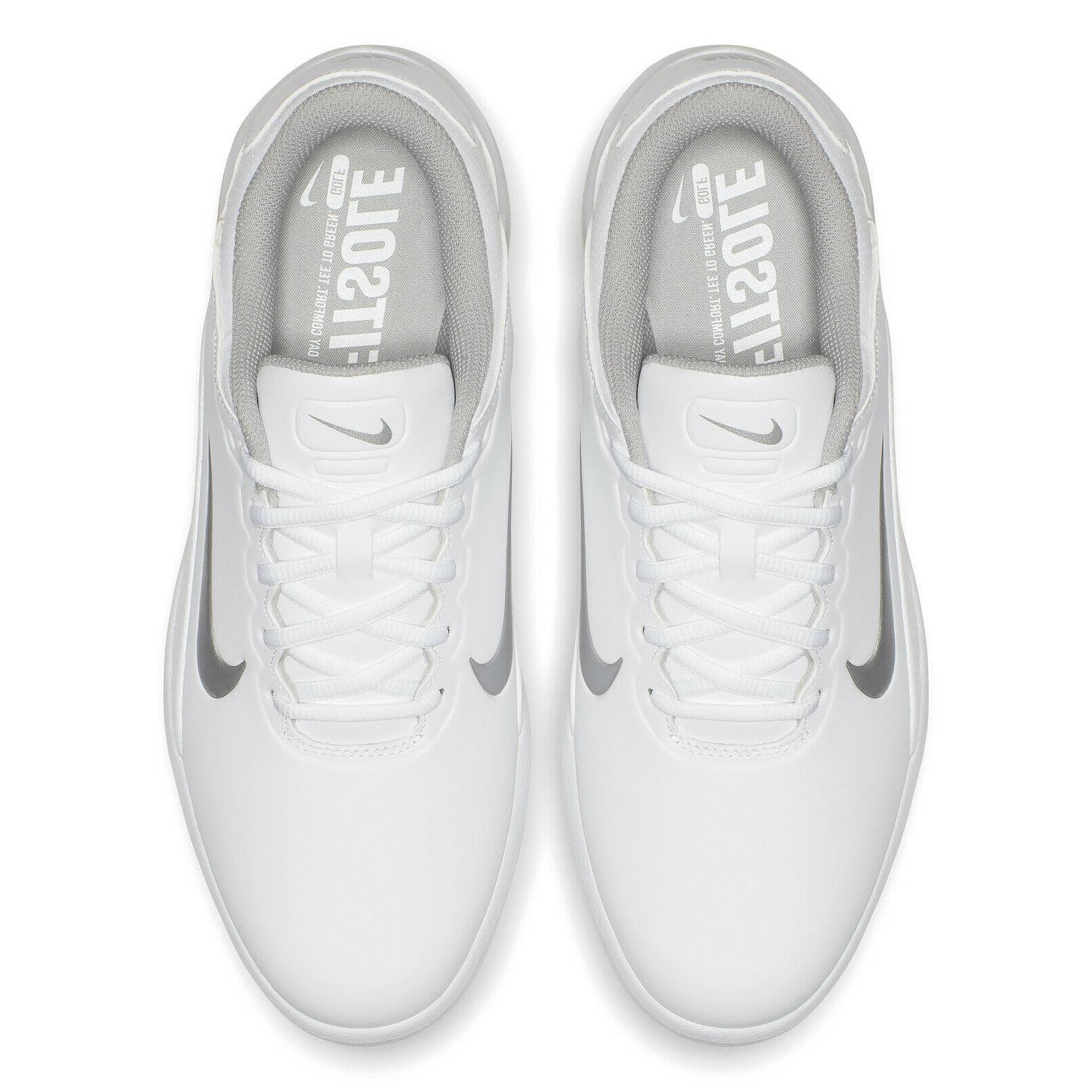 NIKE VAPOR GOLF SHOES Cleats WIDE WIDTH, White,