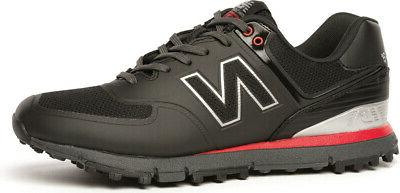 nbg 518 spikeless golf shoes black red