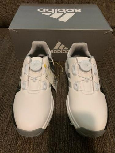 New Adidas Golf BOA Boys Youth Kids Junior White/Black
