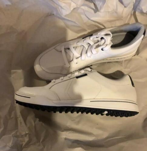 New Cardiff White Blue Men US 9.5 Golf Spikeless