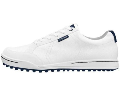 New Ashworth Cardiff - White Nautical Blue Men US 9.5 Golf S
