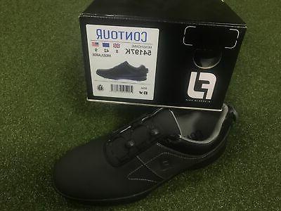 New Contour Mens Golf Shoes Black color