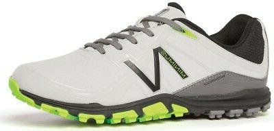 New New Balance Golf- Mens Minimus Golf Shoes Gray/Green Siz