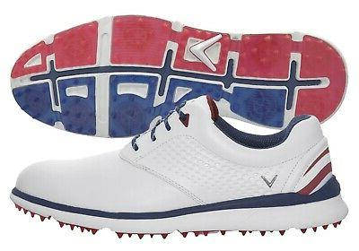 new golf skyline shoes blue white red