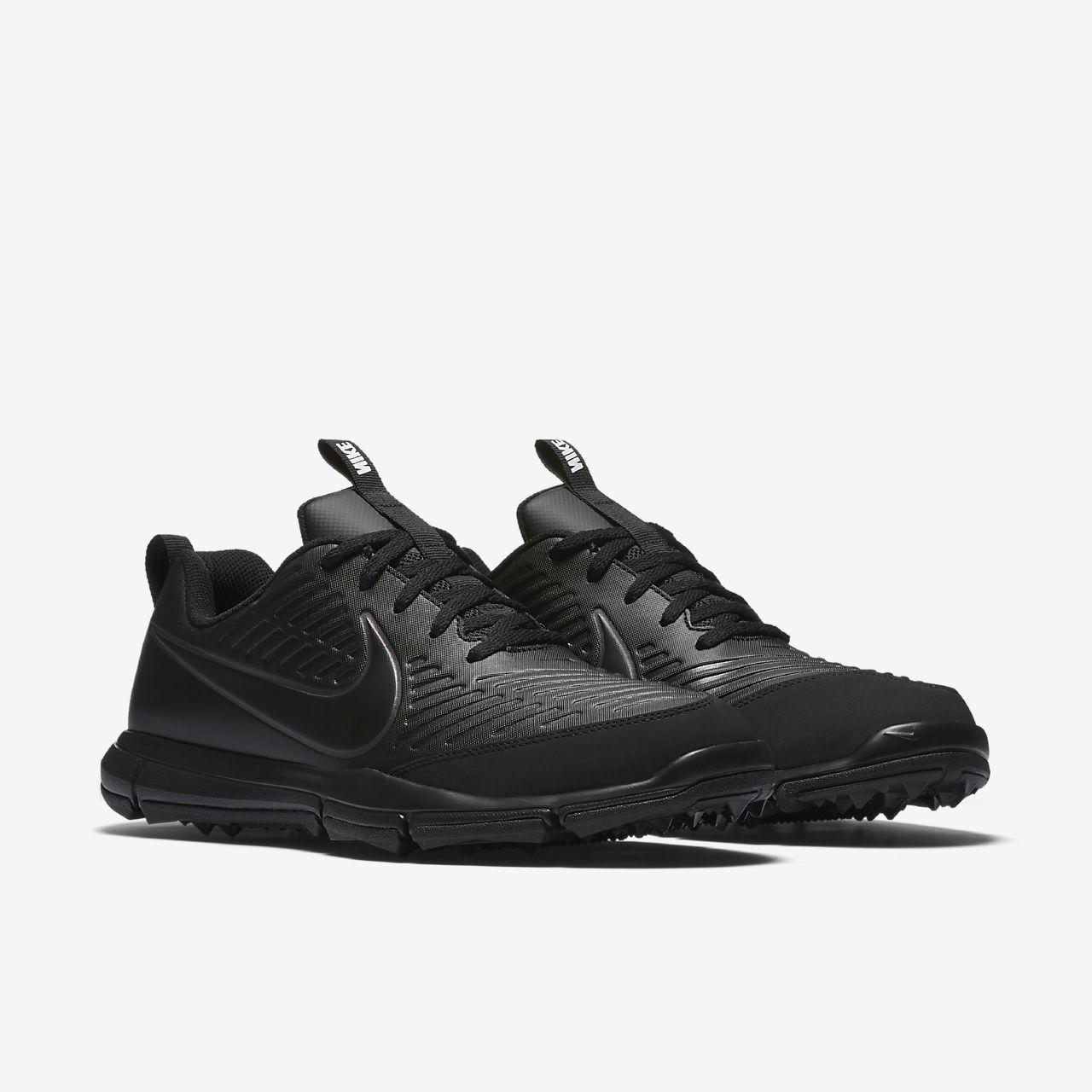 New Nike Men's Explorer 2 Golf Shoes Black 849957-001
