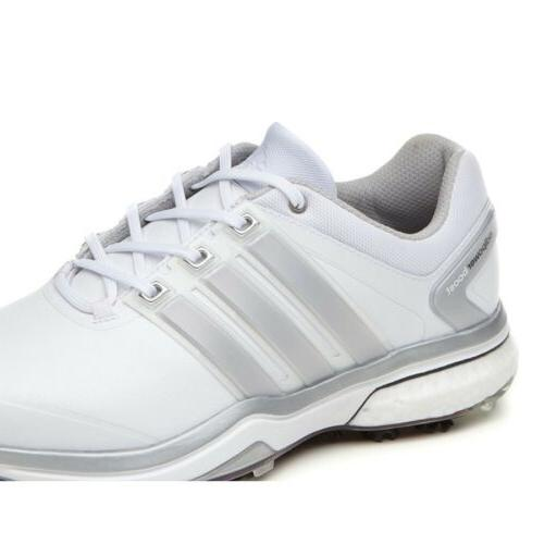 NEW ADIPOWER BOOST WHITE/GREY GOLF PICK