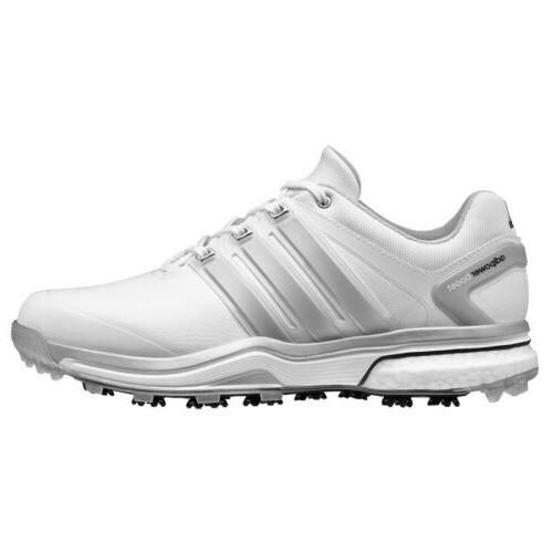 new mens adipower boost white grey golf