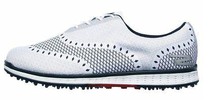 NEW MENS GO GOLF ELITE-ACE SHOES - 11.5 45 WHITE / NAVY