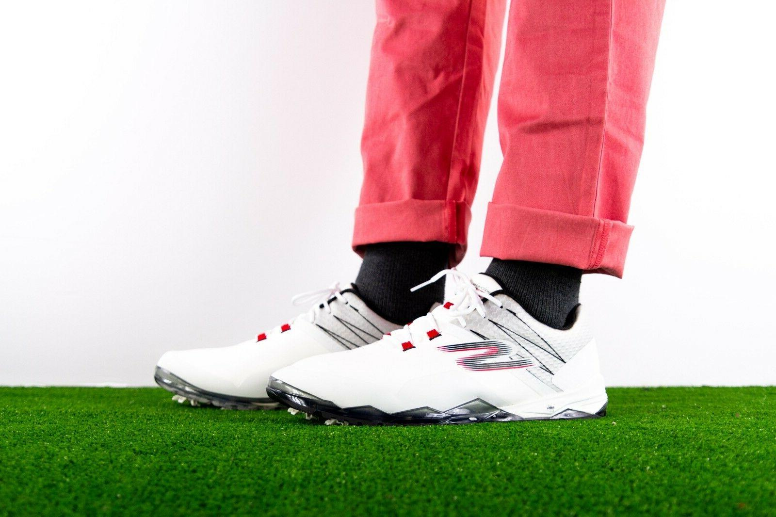 NEW Skechers Mens Go Golf Focus Waterproof Golf Shoes White
