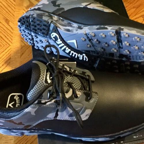 NEW Men's CALLAWAY Golf La Shoes Black Size Medium