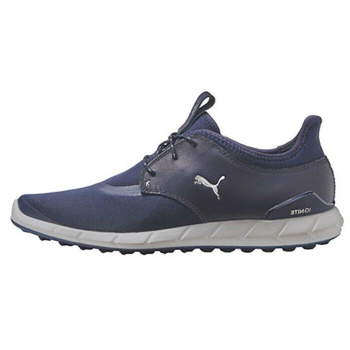 new mens ignite spikeless golf shoes navy