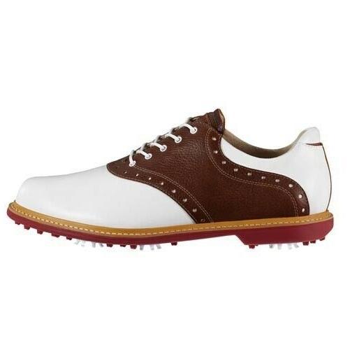 new mens kingston golf shoes white tan