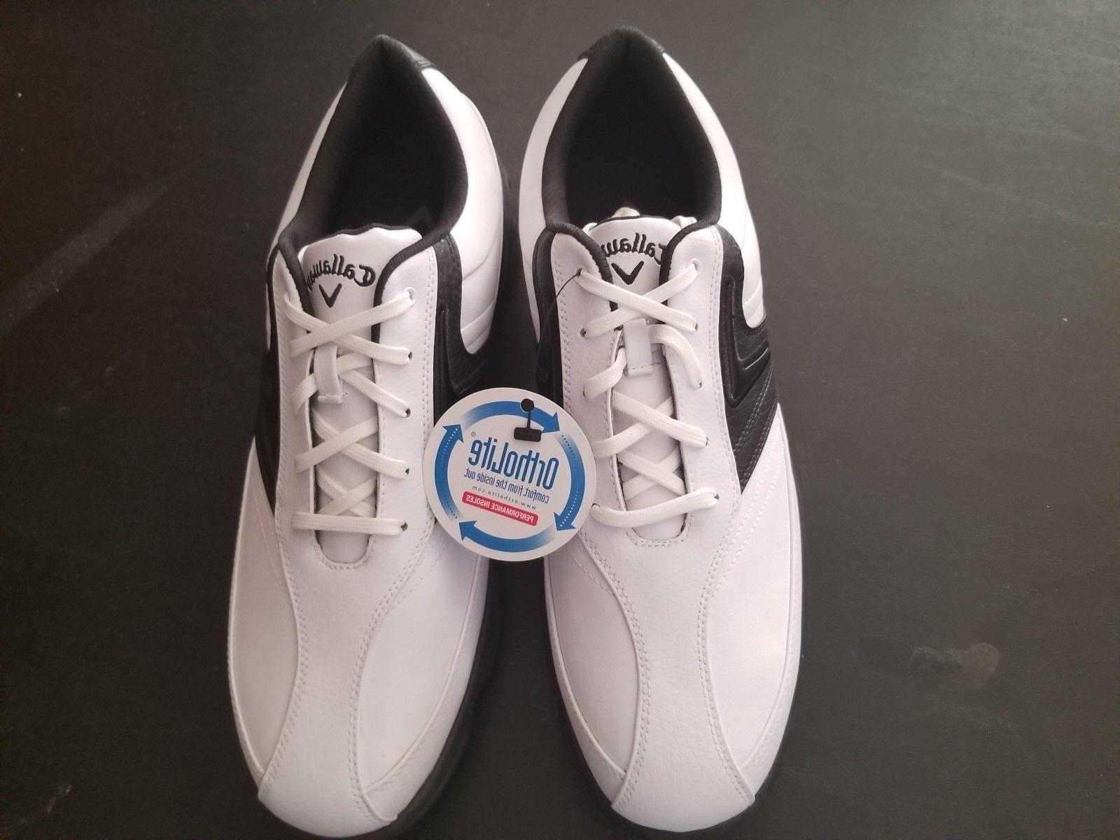 new mens size 13 golf leather shoes