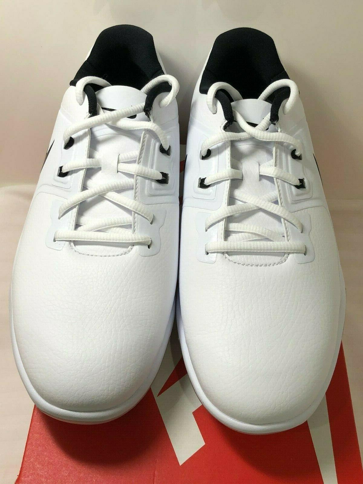 New Mens Nike Vapor Pro Golf Shoes Cleats White Black  AQ219