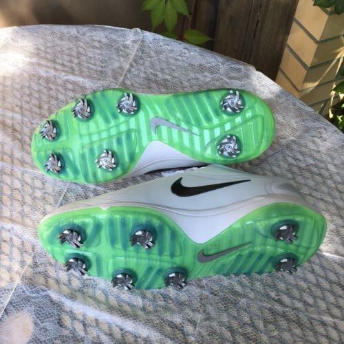 NEW Nike React Vapor 2 Cleats Men's 11.5 White Green Glow BV1135-103