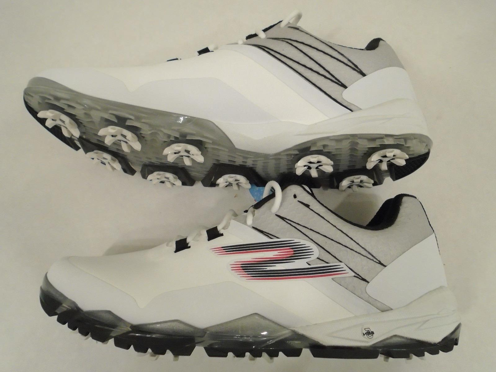 NEW Skechers Mens 8 Go Golf Focus Waterproof Golf Shoes Whit