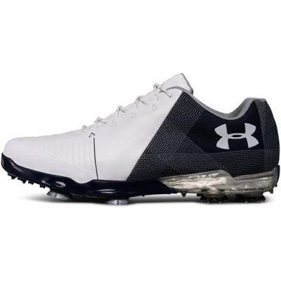 New Under Armour SPIETH 2 Golf Shoes Medium White/Academy 30