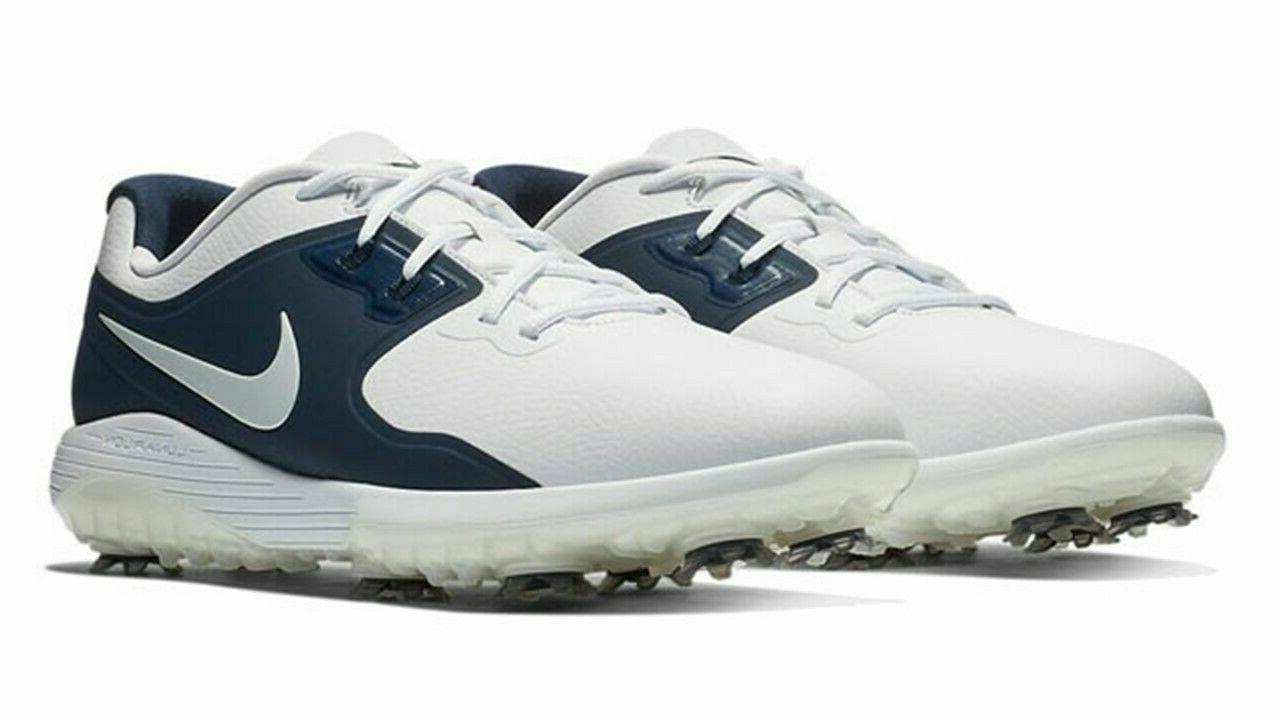 NEW Nike VAPOR Wide White Navy Blue