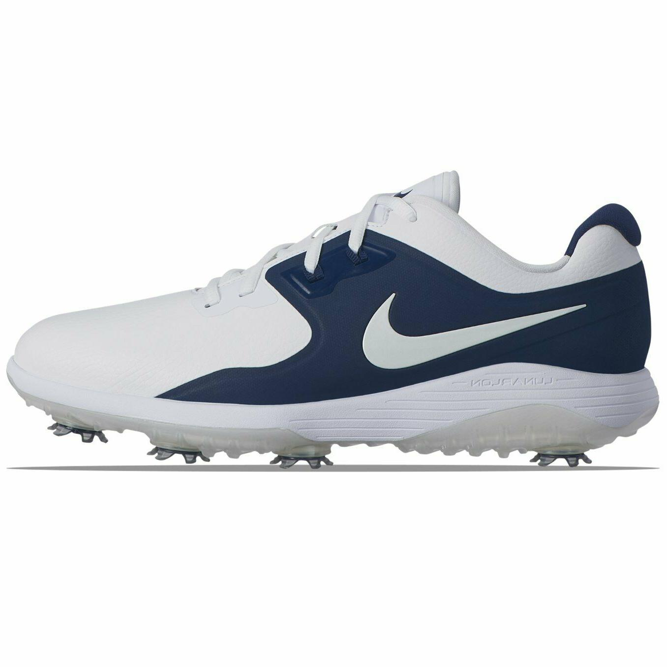 NEW Wide White Navy Blue