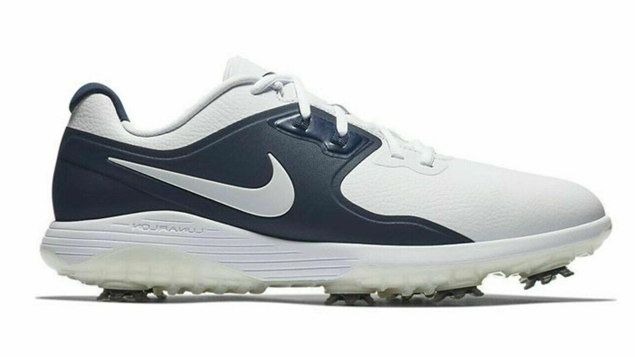 NEW Nike PRO Wide White Navy Blue
