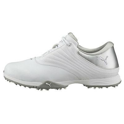 NEW Womens PUMA Blaze Waterproof Golf Shoes White / Silver -