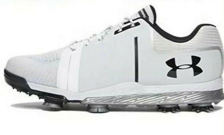 NIB Mens Under Armour UA Tempo Sport Golf Shoes White Silver
