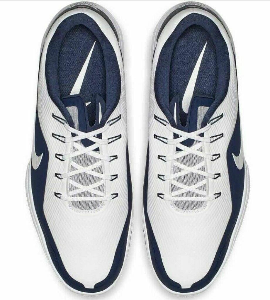 NIKE GOLF SHOES 9.5 WHITE BLUE 100