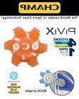 CHAMP PiviX SLIM-LOK golf spikes 18 pcs- Orange/White- Under