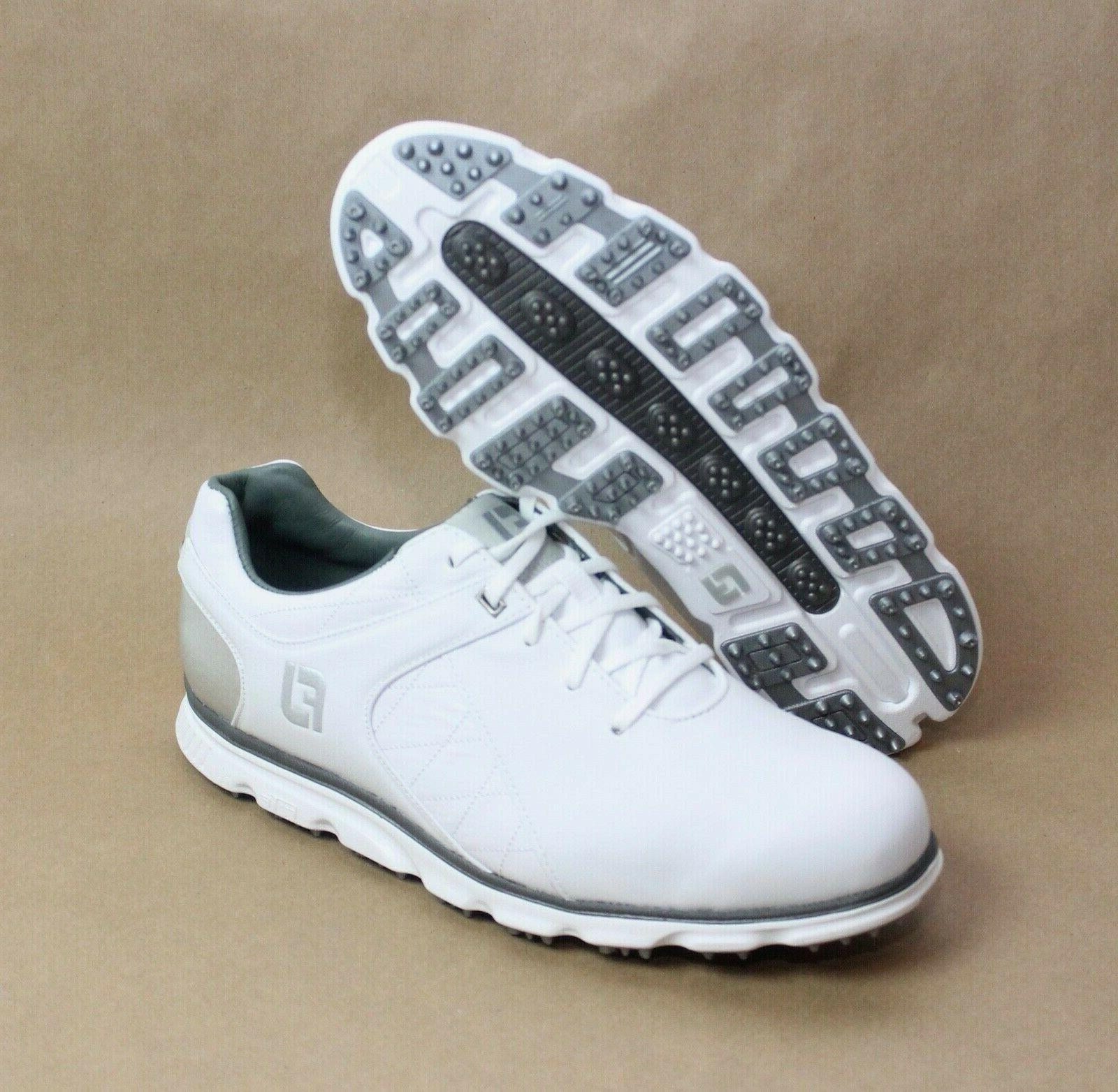 pro sl spikeless golf shoes white silver