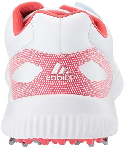 adidas Womens Bounce Golf Shoe, FTWR White/Silver 6.5 M
