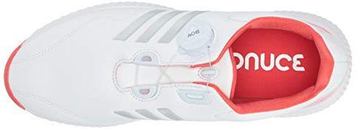 adidas Womens Bounce BOA FTWR Metallic/Real Coral, 6.5 M