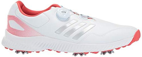 adidas Men's Bounce BOA Golf FTWR Metallic/Real Coral, 6.5