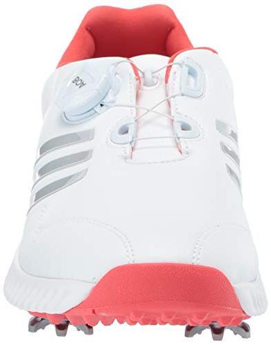 adidas Men's Womens Response Bounce FTWR Metallic/Real Coral, 6.5 US