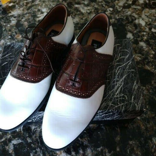 saddle men s golf shows burgundy white