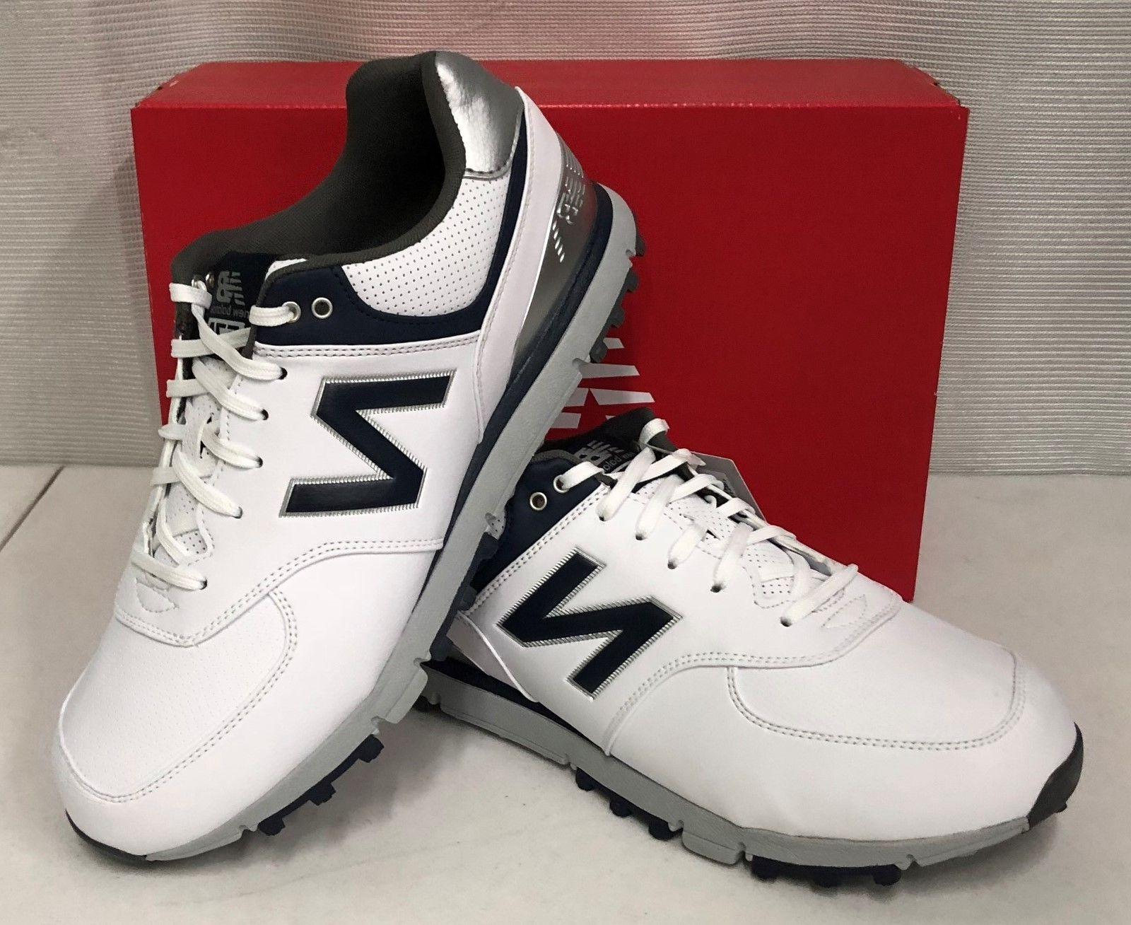 New Balance SL 574 Mens Golf Shoes - White Navy Blue - NBG57