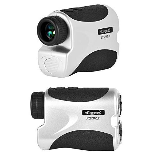 SereneLife Slope Rangefinder Meter Adjustable Lens - Compact Handheld Design & Mode