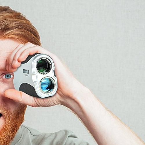 SereneLife Premium Golf Rangefinder Meter Manual Lens Handheld Design - & Measuring Mode